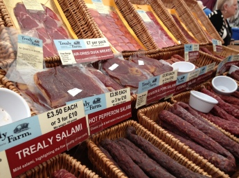 Trealy Farm smoked up a storm with their selection of salami (Photo attributed to Jordan Harris)