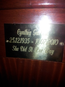 I want a plaque in a pub when I die of liver failure.