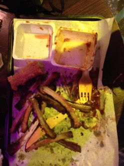 The sign of a good meal is a plate full of bones and a naked ear of corn!