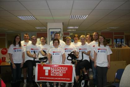 The whole team upon completing the cycle challenge (Pic courtesy of Brains Pub Estate)
