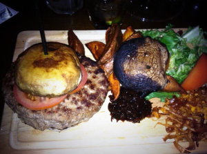 Cavemen didn't have buns. They had mushrooms. (Pic courtesy of Jordan Harris)