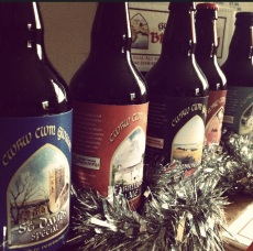 Sarah's paintings adorn the bottles (Photo attributed to Jordan Harris)