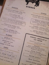 Obviously the menu (Photo attributed to Jordan Harris)