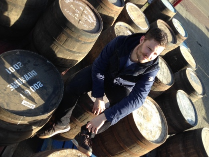 Robbert and his barrels (Photo attributed to Robbert  Uyleman)