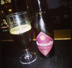 Westmalle Dubbel in Porterhouse sent in by @dgcham via instagram. Danny has contributed some amazing beer and food pairing articles to the blog. Thanks Danny!