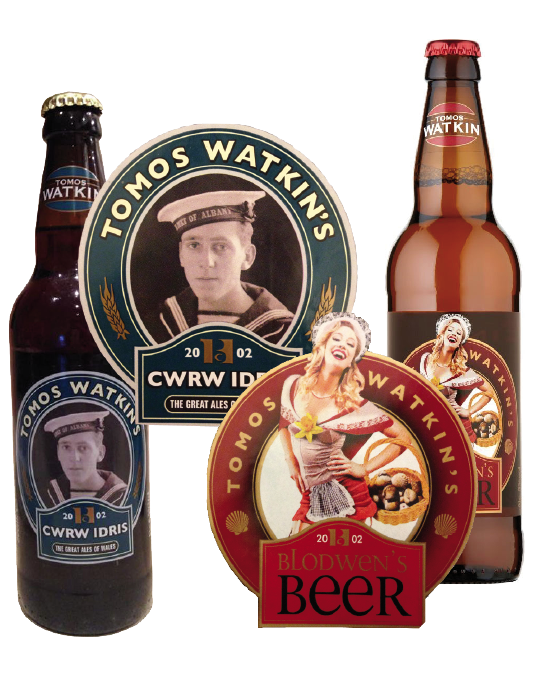 Idris and his sister, Blodwen, are commemorated in Tomos Watkin's beer range (Pic attributed to Jordan Harris)