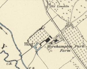 A map from 1887 showing the old orchards by the moat (Pic attributed to Denis Gwatkin)