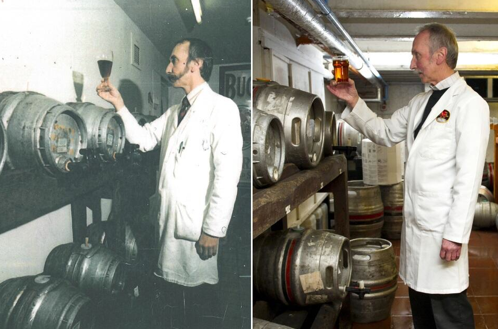 Then and now (Pic attributed to Brains Brewery)