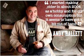 Andy Hallett Hallets cider