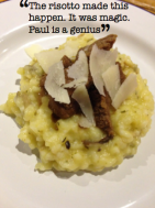 Ale marinated Zebra, wild mushroom and thyme risotto