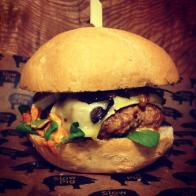 Their chorizo burger (Photo attributed to Slow Pig)